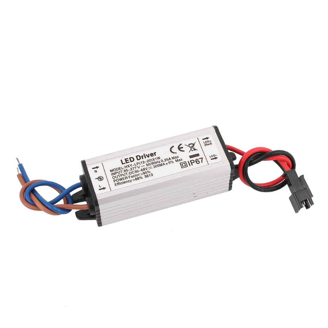 AC 85-277V to DC 30-68V Waterproof Power Supply Driver for LED Strip Light