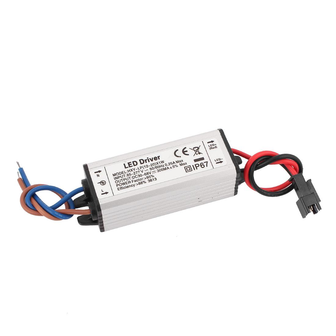 AC 85-277V to DC 30-68V Waterproof Power Supply Driver for LED Strip Light