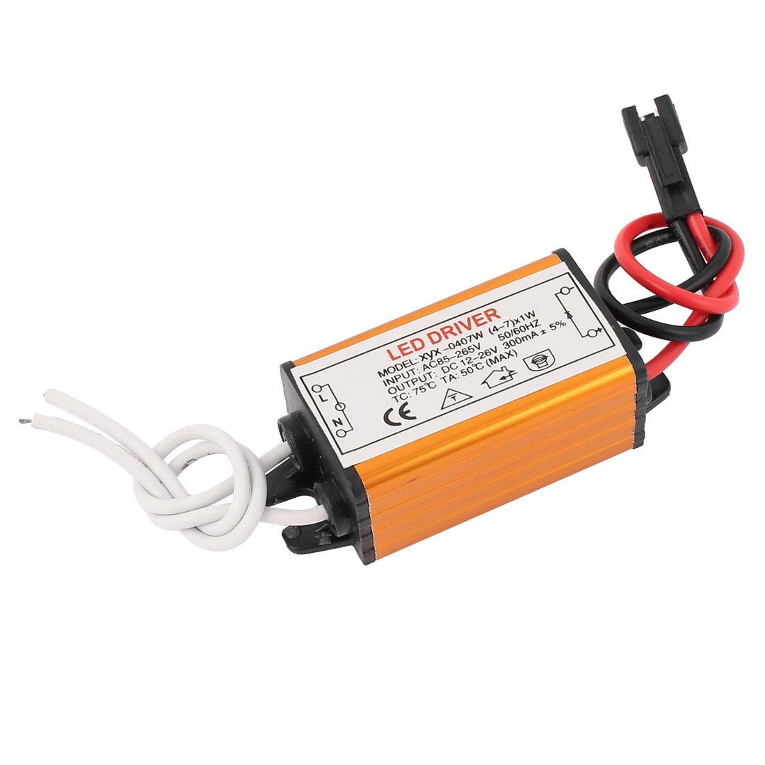 AC 85-277V to DC 12-26V Waterproof Power Supply Driver for LED Strip Light