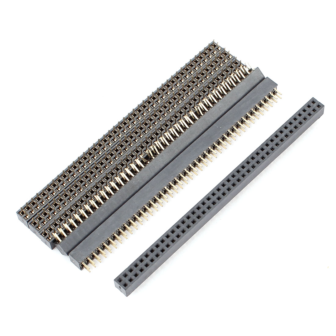 2mm Pitch 2x20Pin Double Row Female Header Straight Socket Strip Connector 6Pcs