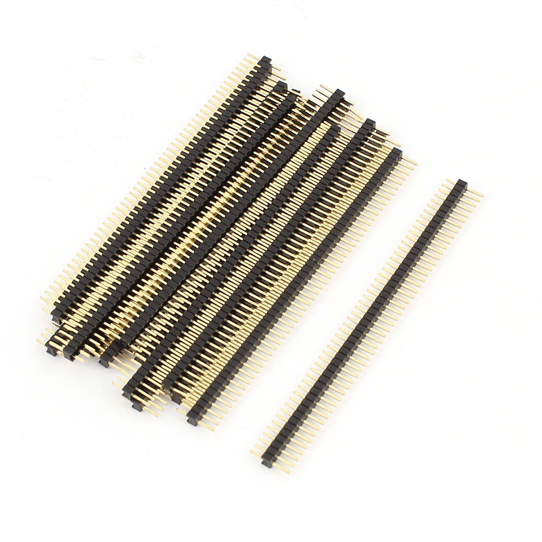 1.27mm Pitch 50-Pin Single Row Male Header Straight Socket Strip Connector 15Pcs