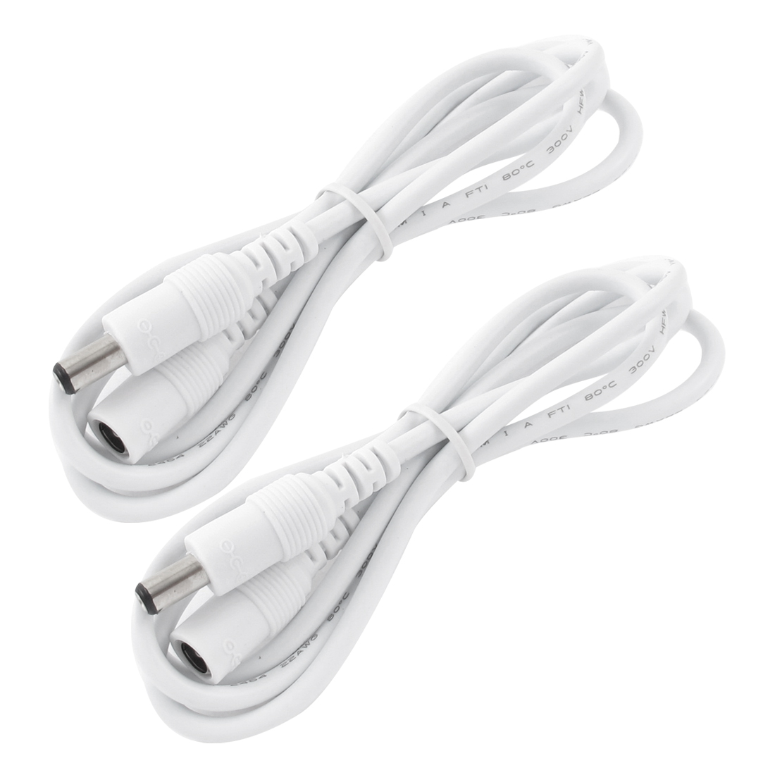 2PCS DC 5.5x2.1mm Male to Female Connector CCTV Camera Power Extension Cable 1M