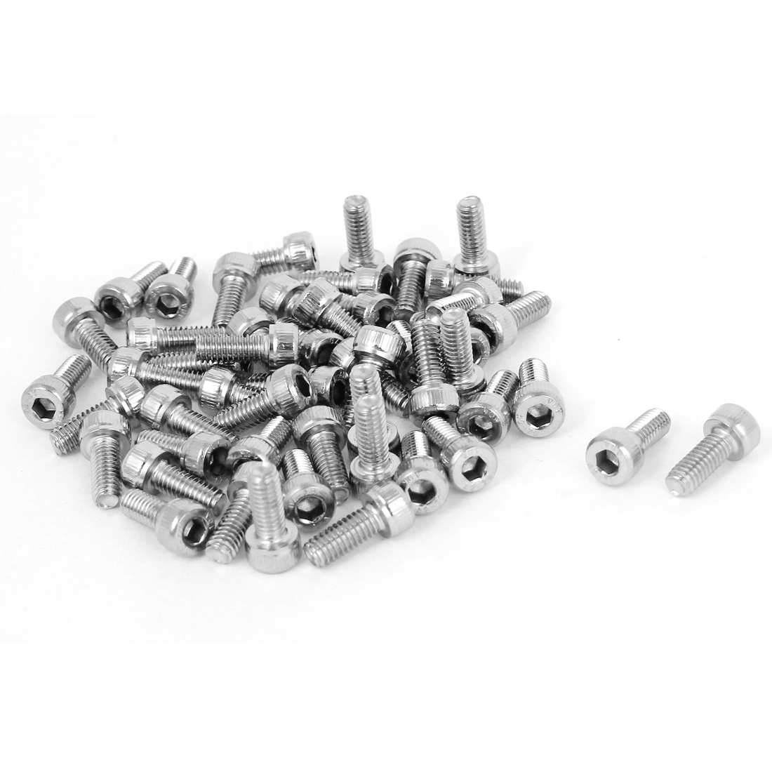 M4x10mm 0.7mm Pitch Stainless Steel Bolts Socket Cap Head Hex Key Screws 50pcs