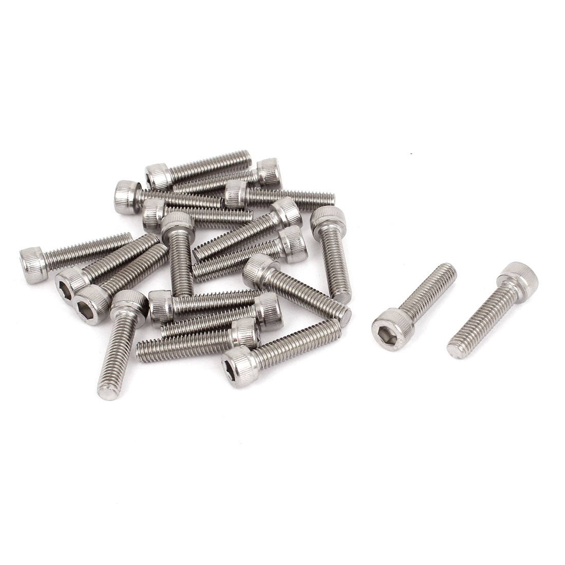 M6x25mm Stainless Steel Hex Socket Cap Screws Head Key Bolts 20 Pcs