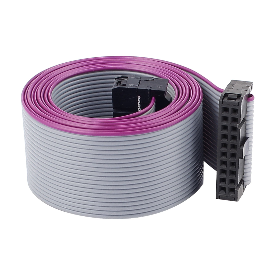 2.54mm Pitch 20 Pin 20 Wire F/F IDC Connector Flat Ribbon Cable 118cm