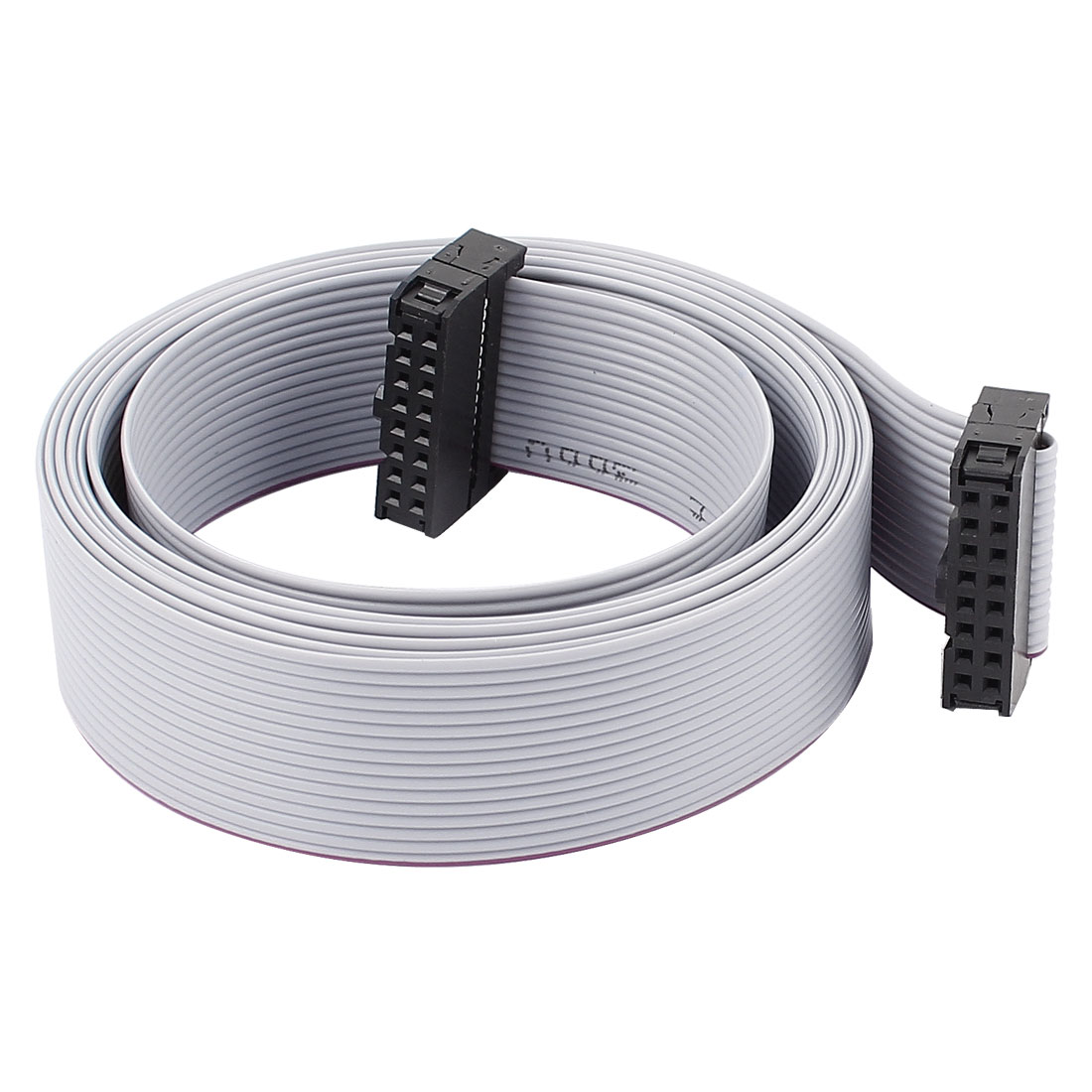 2.54mm Pitch 16Pin F/F IDC Connector Hard Driver Flat Ribbon Cable 148cm Length