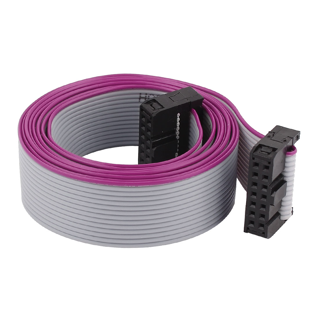 2.54mm Pitch 14Pin 14 Wire F/F IDC Connector Flat Ribbon Cable 118cm