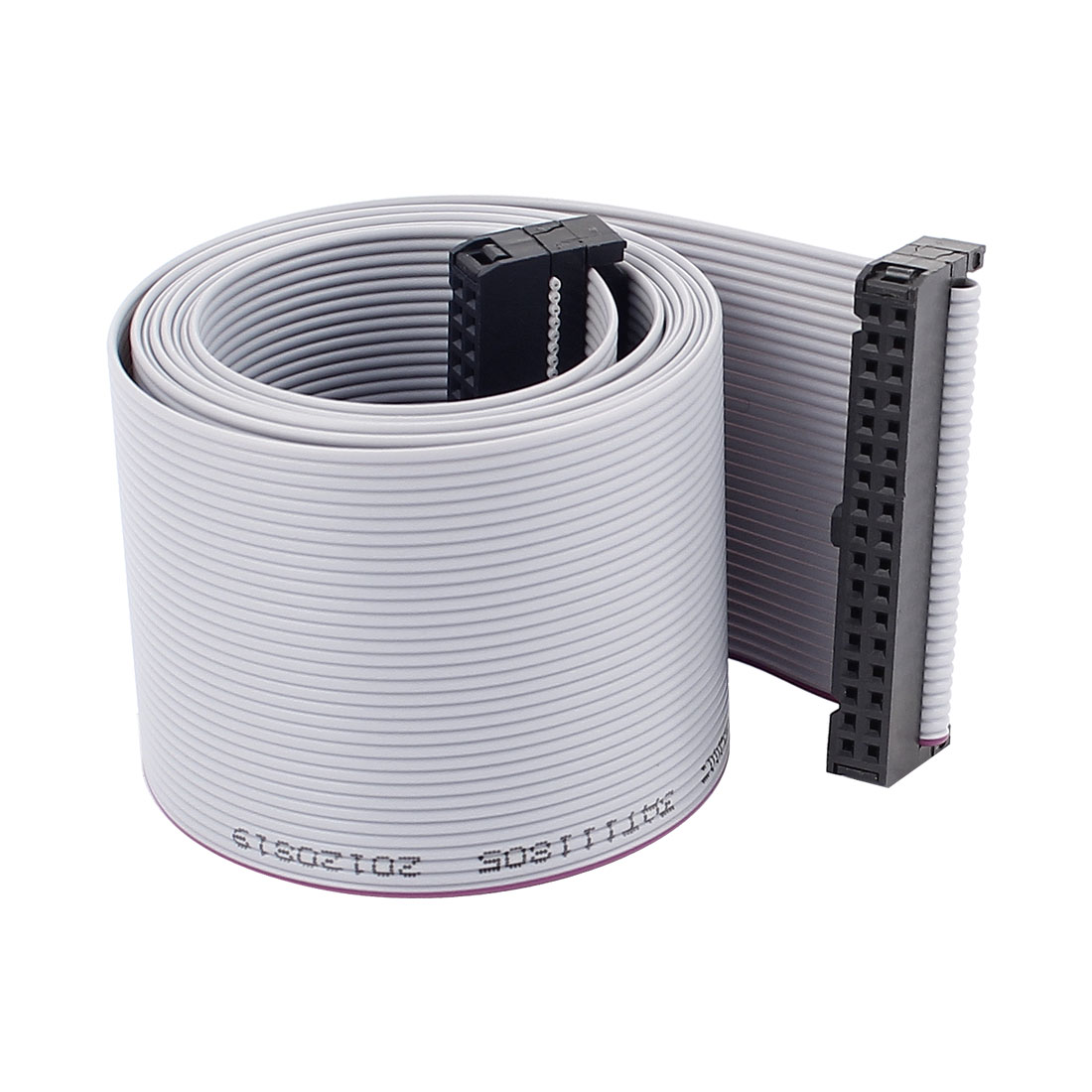 2.54mm Pitch 34Pin F/F IDC Connector Hard Driver Flat Ribbon Cable 118cm