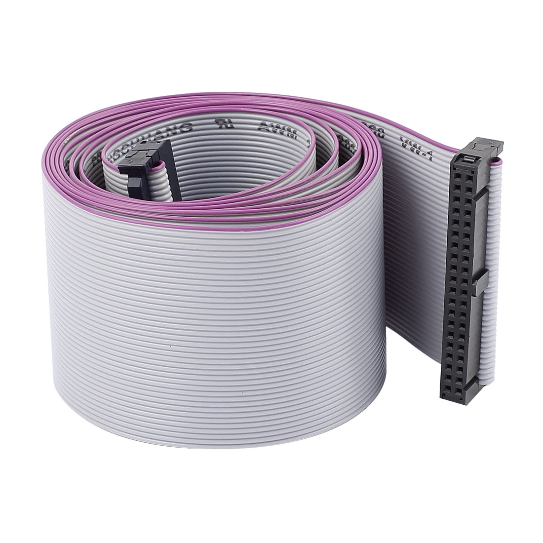 2.54mm Pitch 40Pin F/F IDC Connector Motherboard Flat Ribbon Cable 148cm