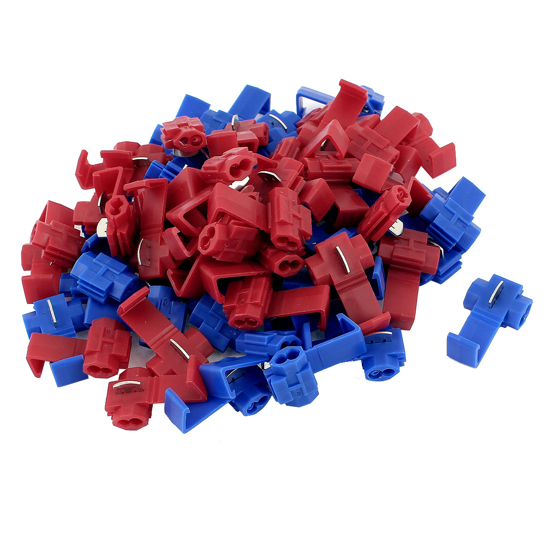 70Pcs Red Blue Snap Lock 10-12AWG Gauge Cable Wire Quick Splice Connectors