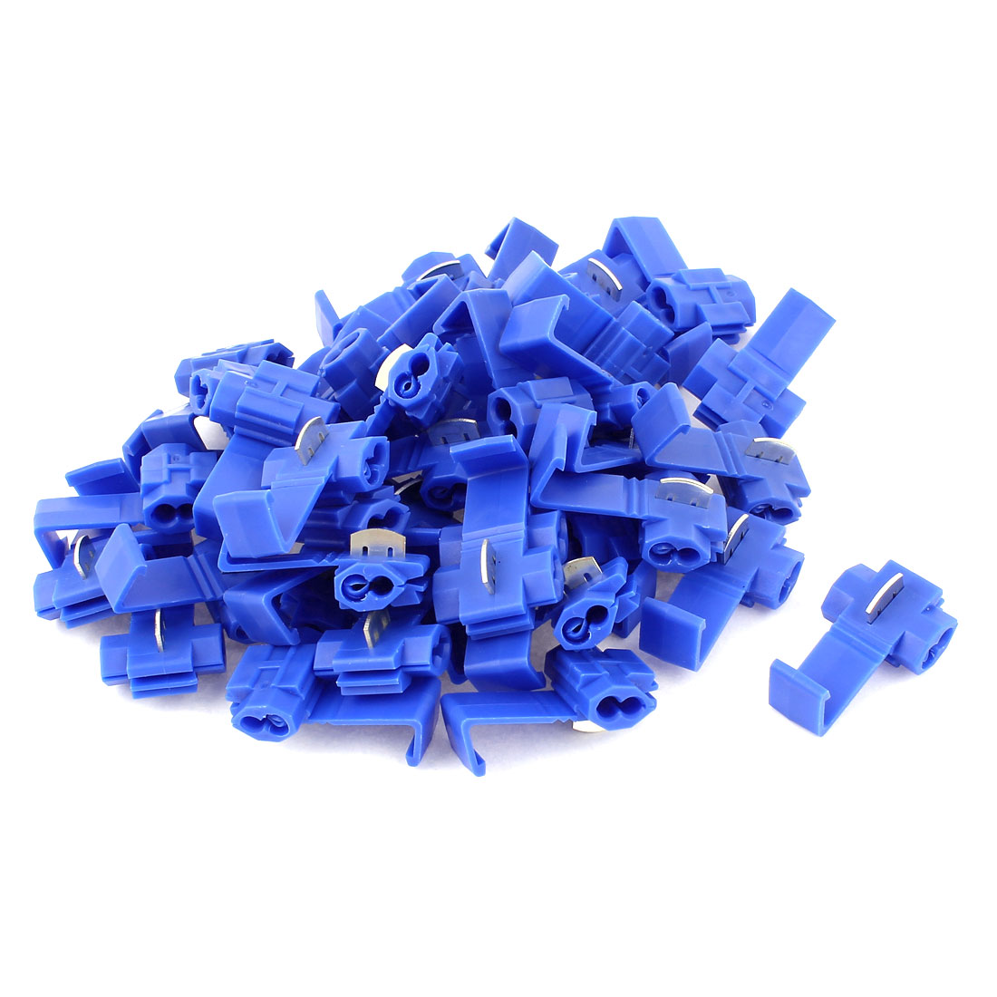 40Pcs Blue Solderless 10-12AWG Gauge Cable Wire Quick Splice Connectors
