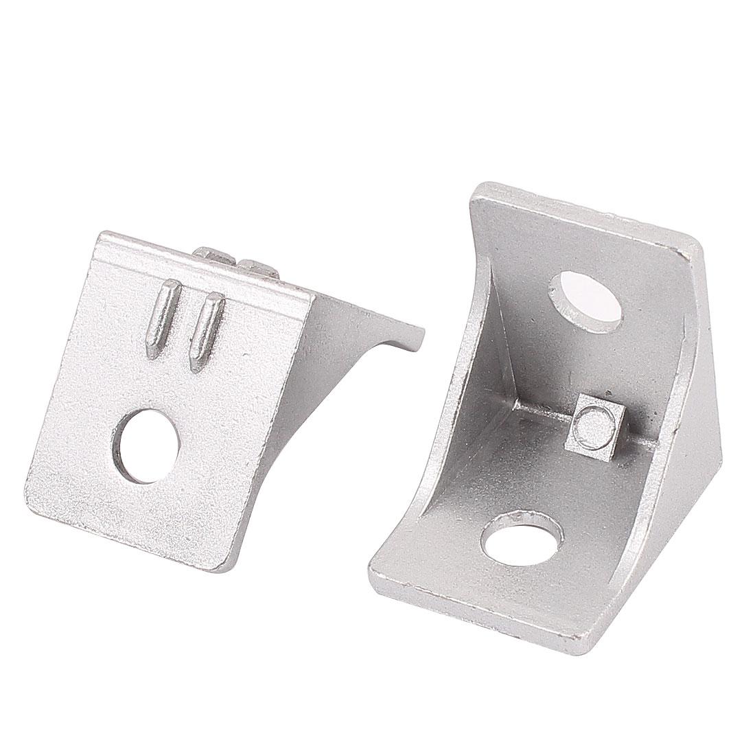 2Pcs Aluminum Alloy 33x33x28mm Corner Braces Angle Brackets Supports
