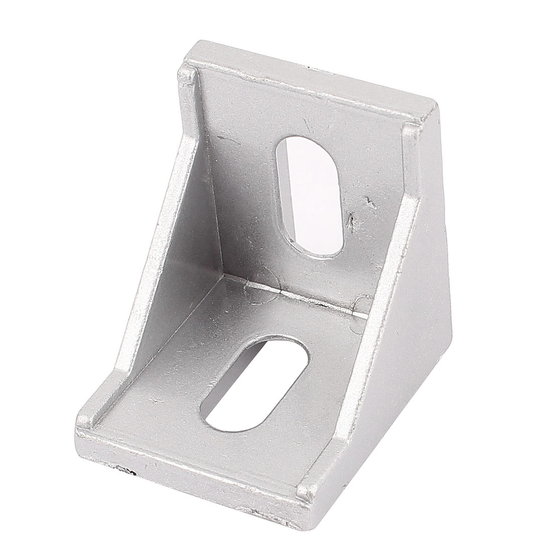 Silver Tone Aluminum Alloy 40x40x35mm Corner Brace Angle Bracket Support