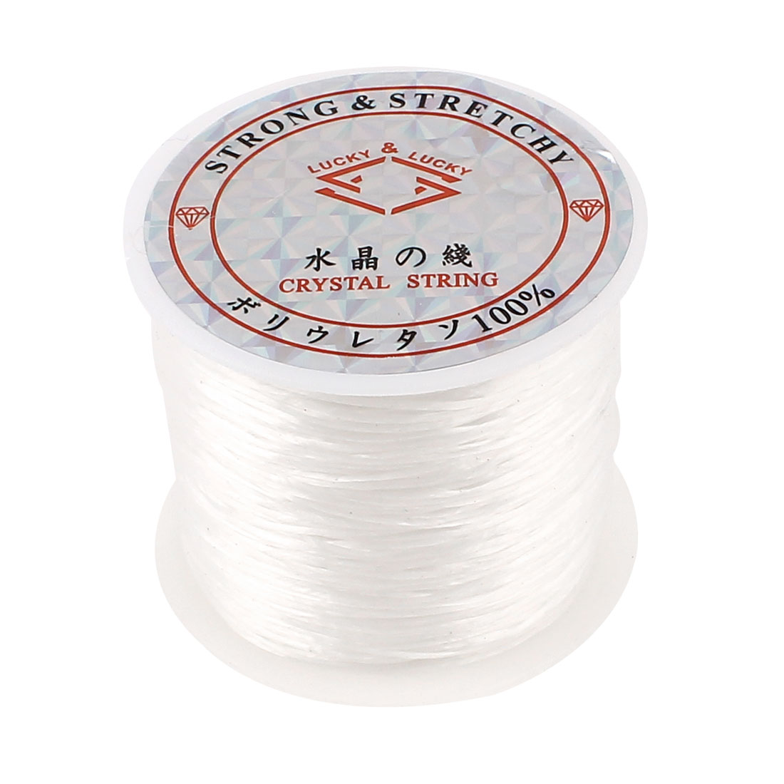 Crystal Elastic Stretchy Beading String Cord Thread Jewelry Craft Line White 60M