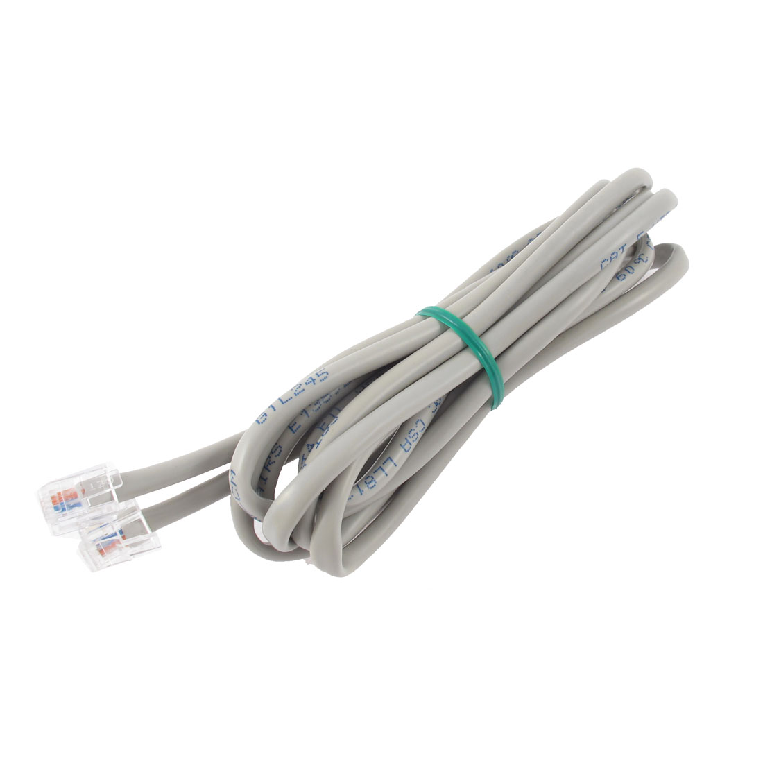 6.5Ft Length 6P4C RJ11 Telephone Extension Fax Modem Cable Line Gray
