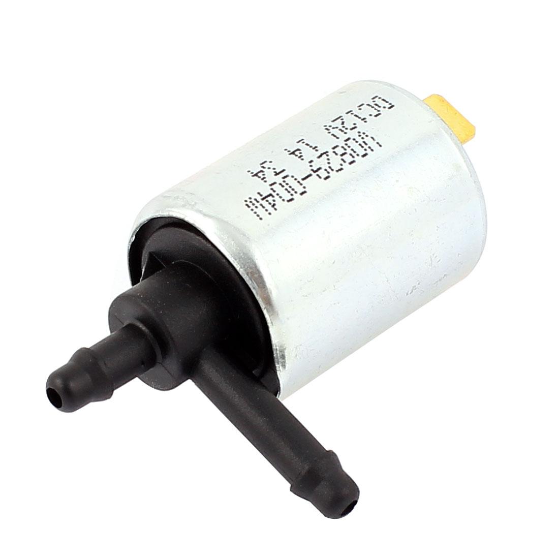 Silver Tone Water Valve Solenoid Electromagnet DC 12V 0.4-0.5kgf/cm2