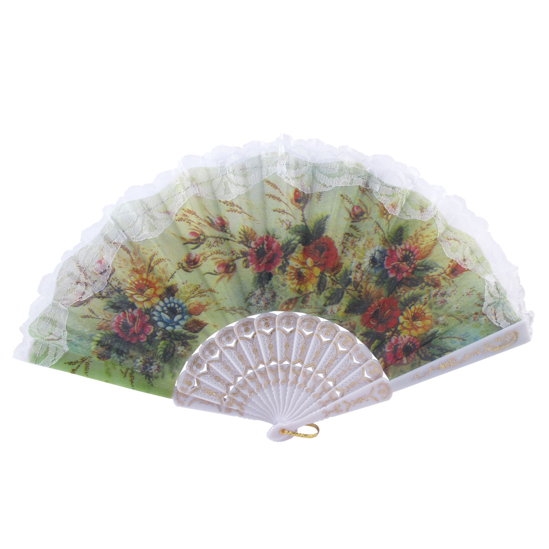 Summer Plastic Carved Frame Art Craft Spanish Style Foldable Hand Fan Wedding Gift