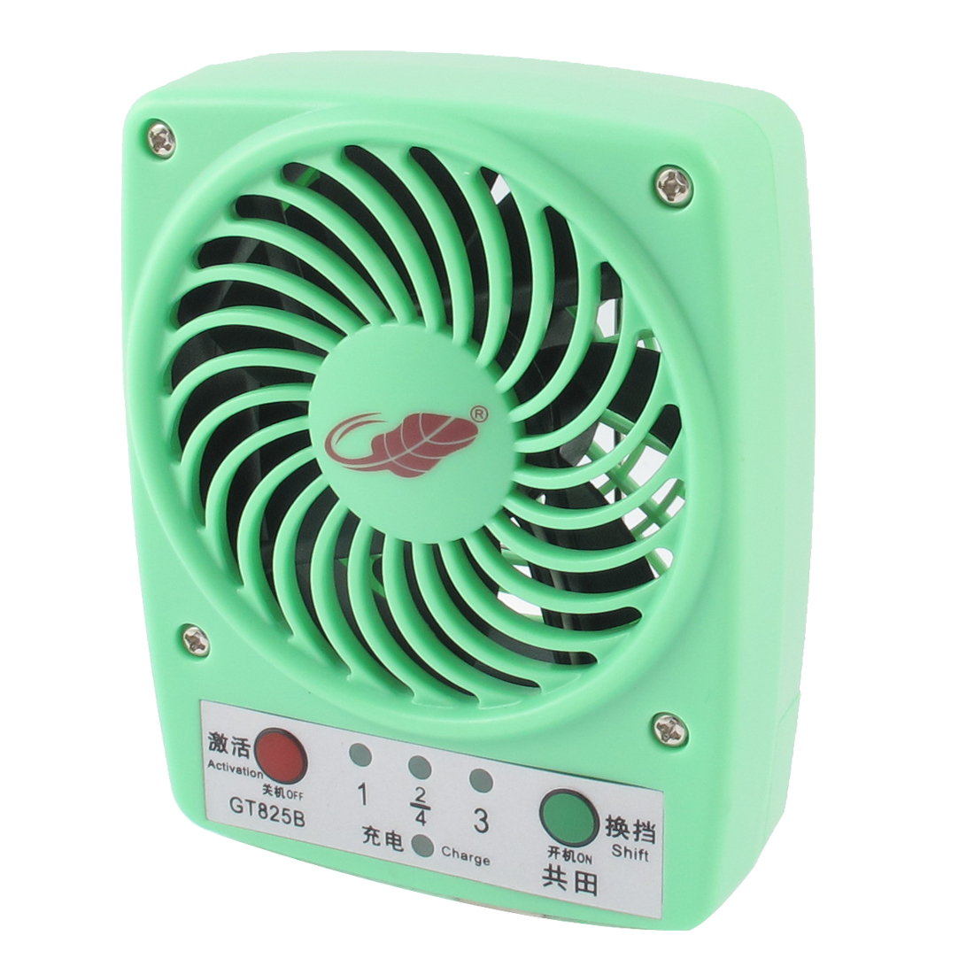 DC5V 4W Home Office Desk Portable Multifunction Mini Cooling Fan Green