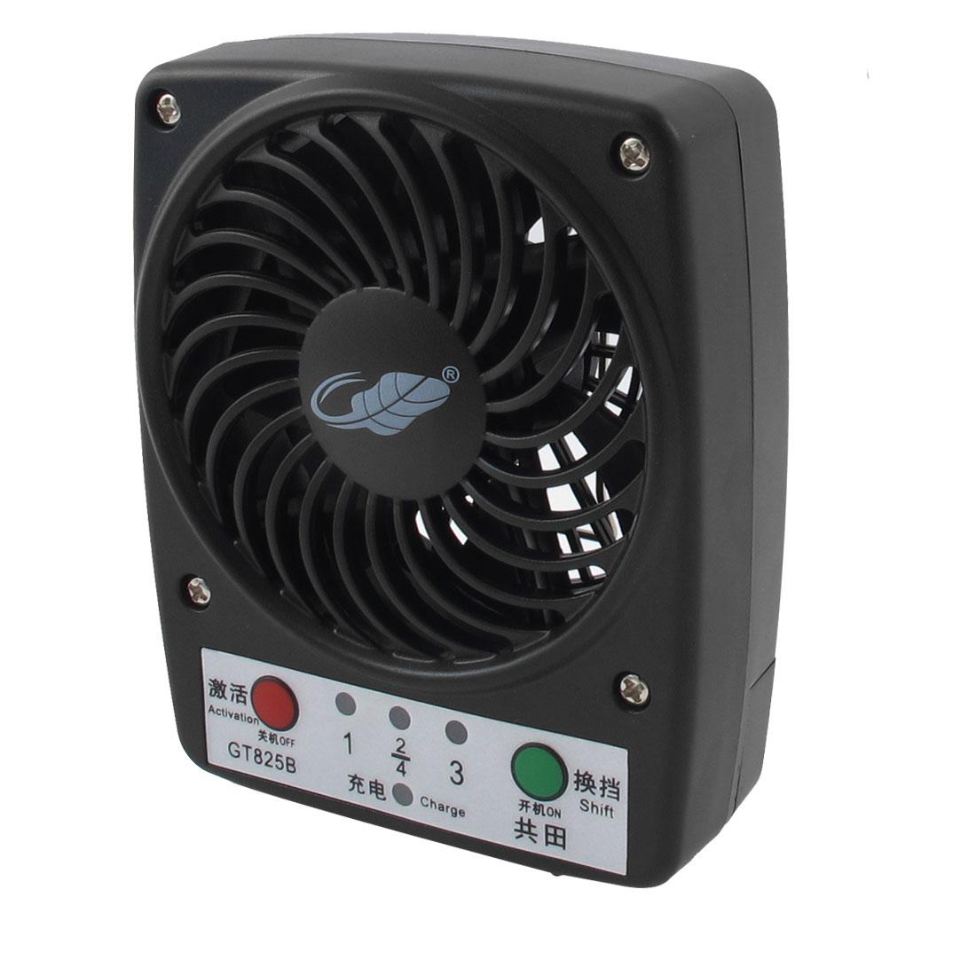 DC5V 4W Home Office Desk Portable Multifunction Mini Cooling Fan Black