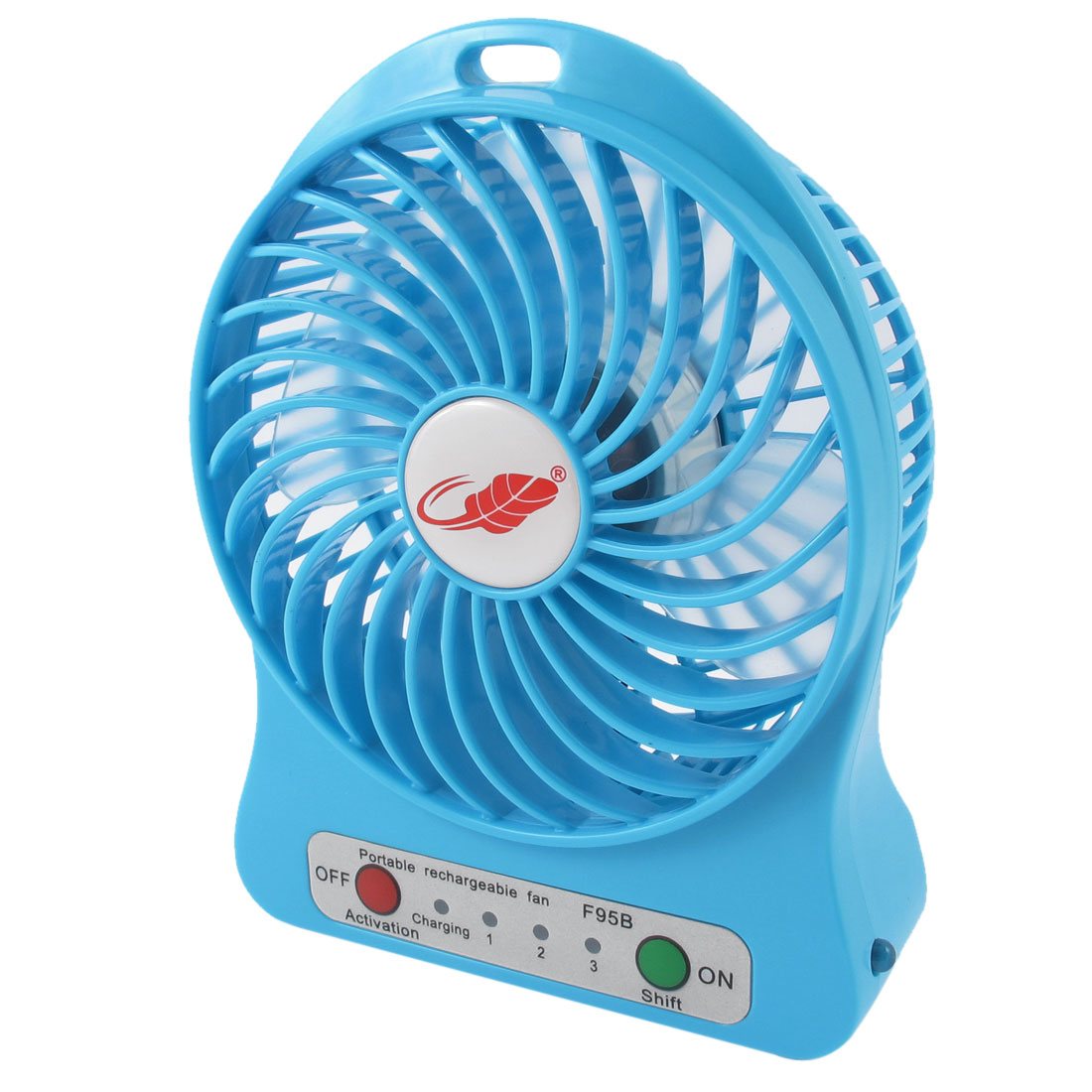 DC5V 4.5W Home Office Desk Portable Multifunction Mini Cooling Fan Blue