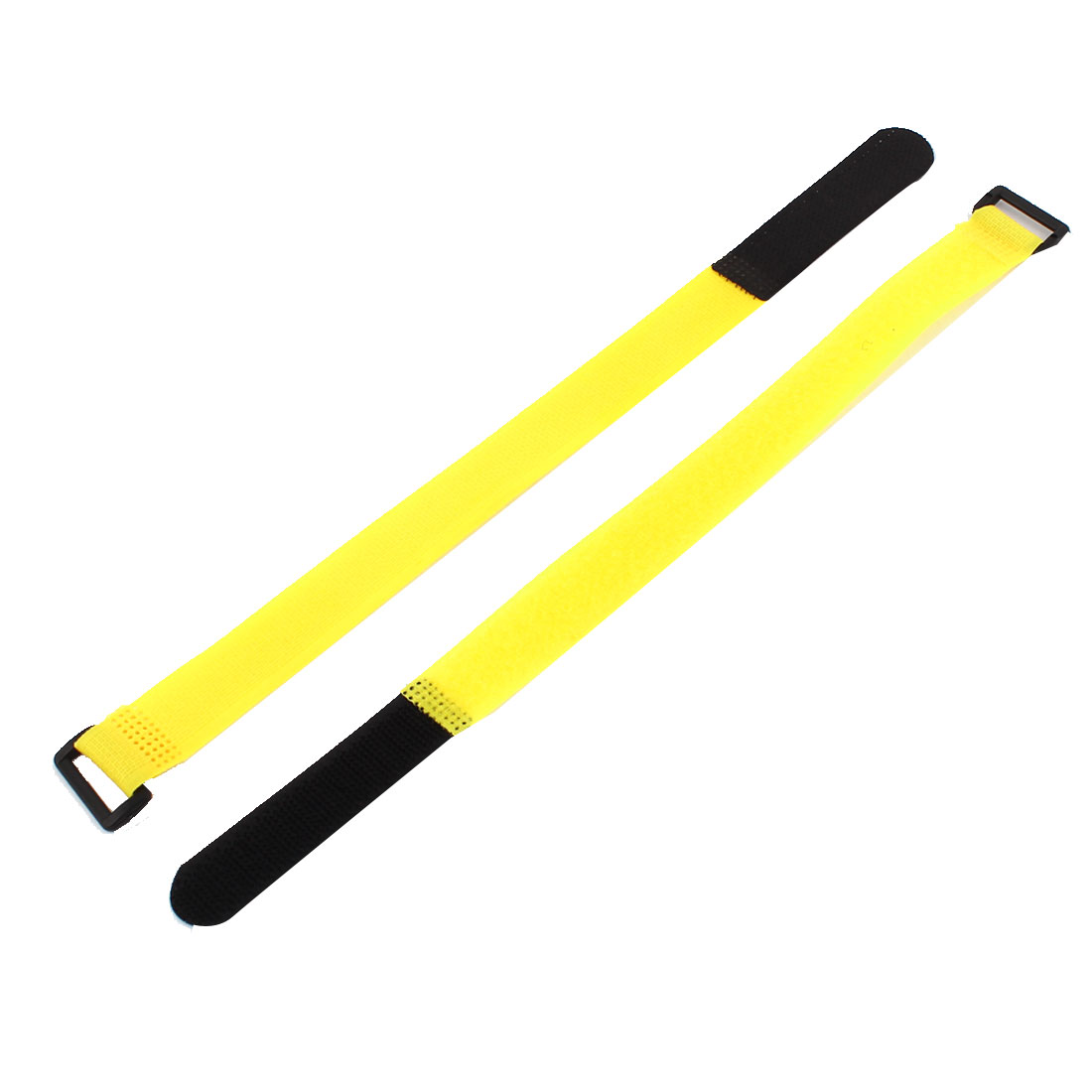 10Pcs 300mm x 20mm RC Lipo Battery Hoop Loop Reusable Cable Tie Down Strap Yellow