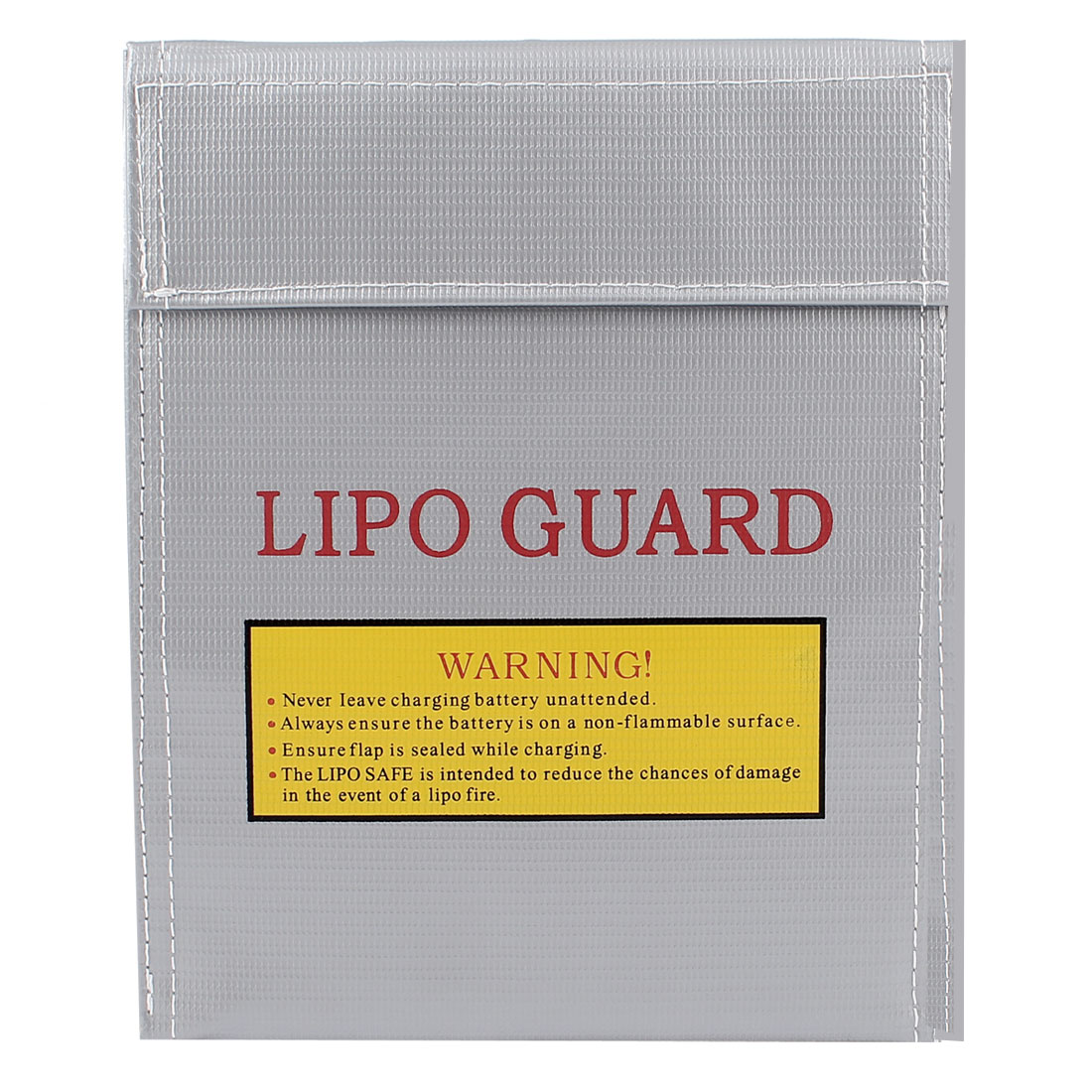 30cm x 23cm RC LiPo Battery Safety Guard Fireproof Charging Bag Silver Gray