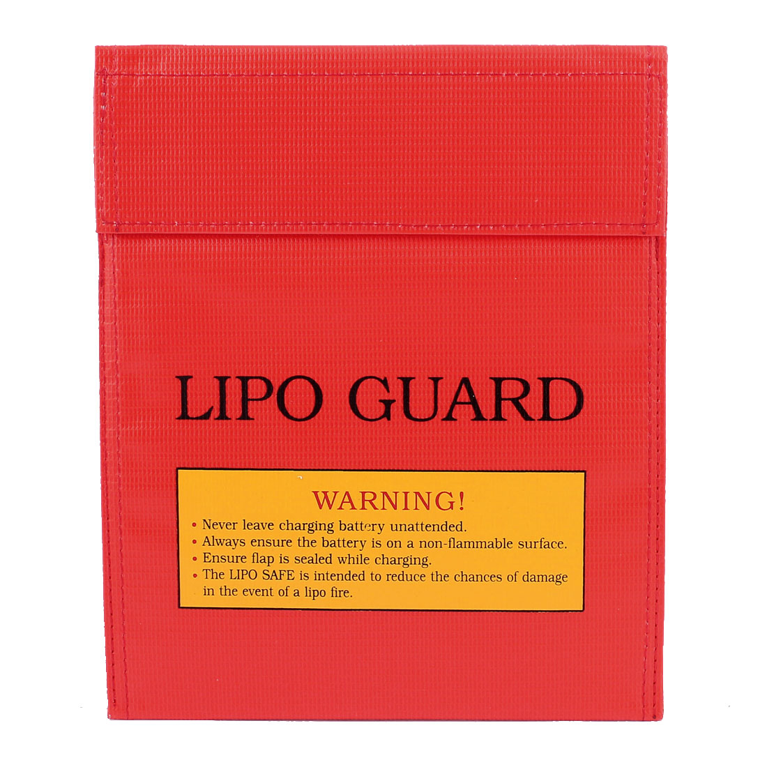 18cm x 22cm Red RC LiPo Battery Safety Guard Fireproof Charging Bag