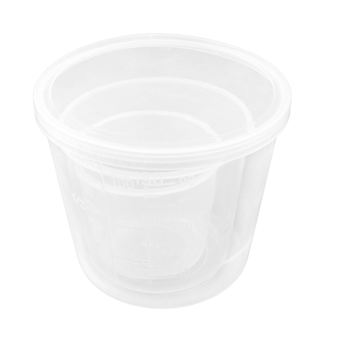 3 in 1 Home Lab Clear White 50/100/200ML Round Mouth Measuring Cup Beaker Set