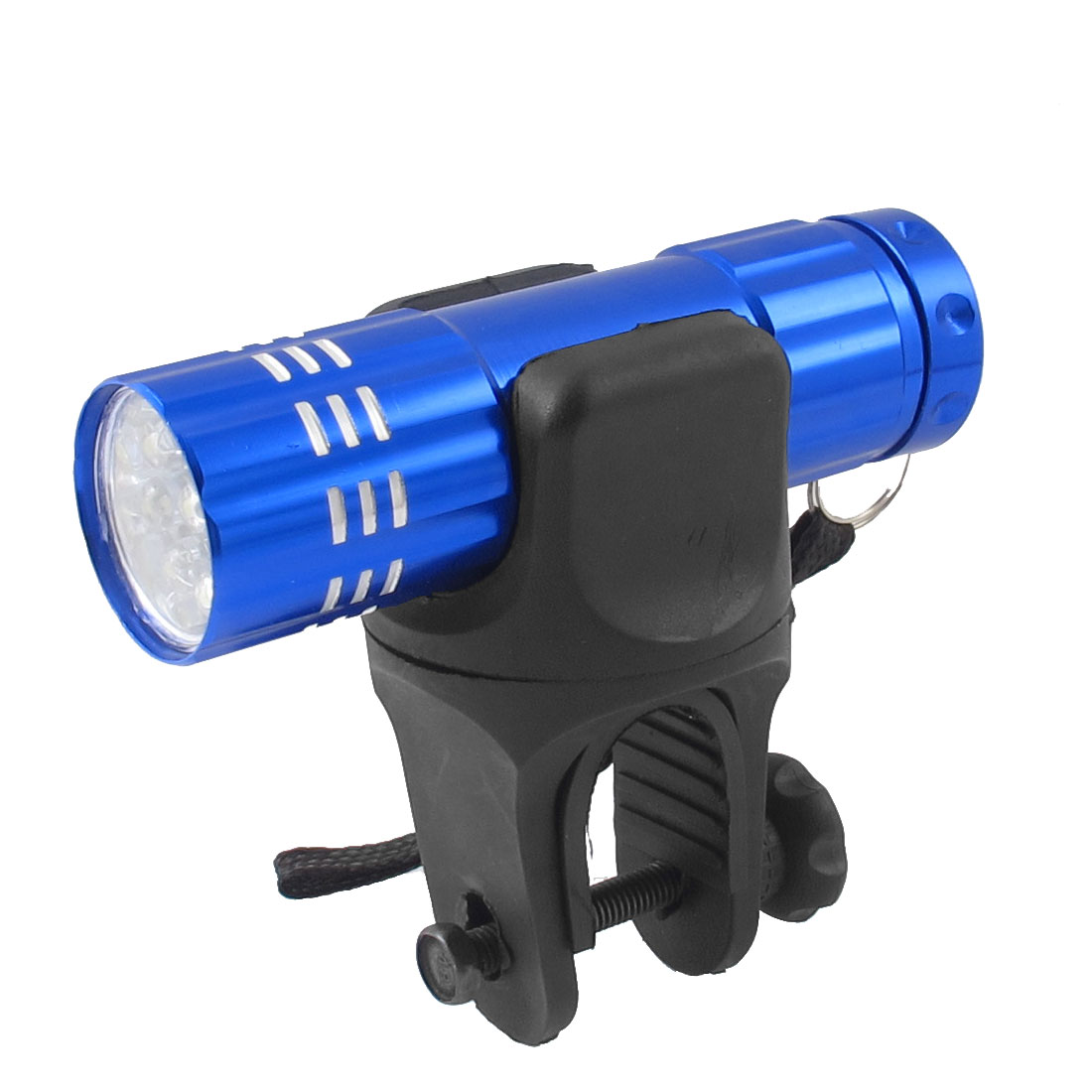 Bicycle Cycling Front Light Mount 9 White LED Flashlight Torch w Holder Bracket