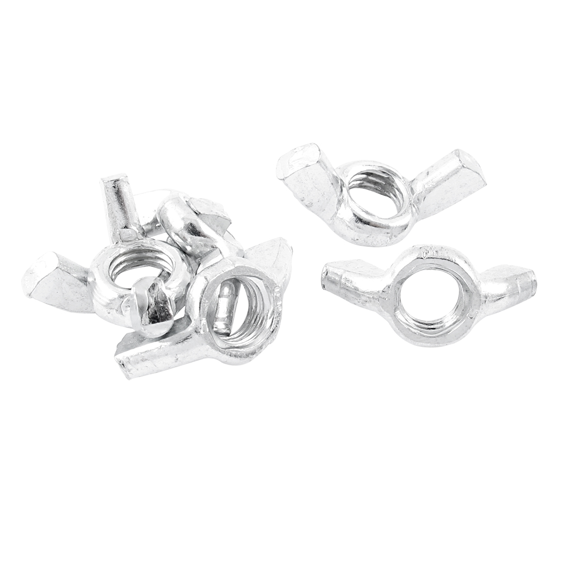 M8 8mm Thread Metal Wingnut Butterfly Wing Nuts 6pcs