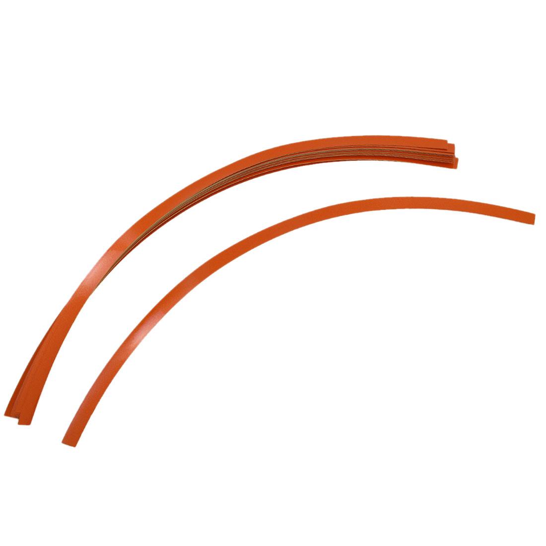 Motorcycle Car Tire Rim Stripe Tape Wheel Decorative Decal Sticker Orange 16pcs