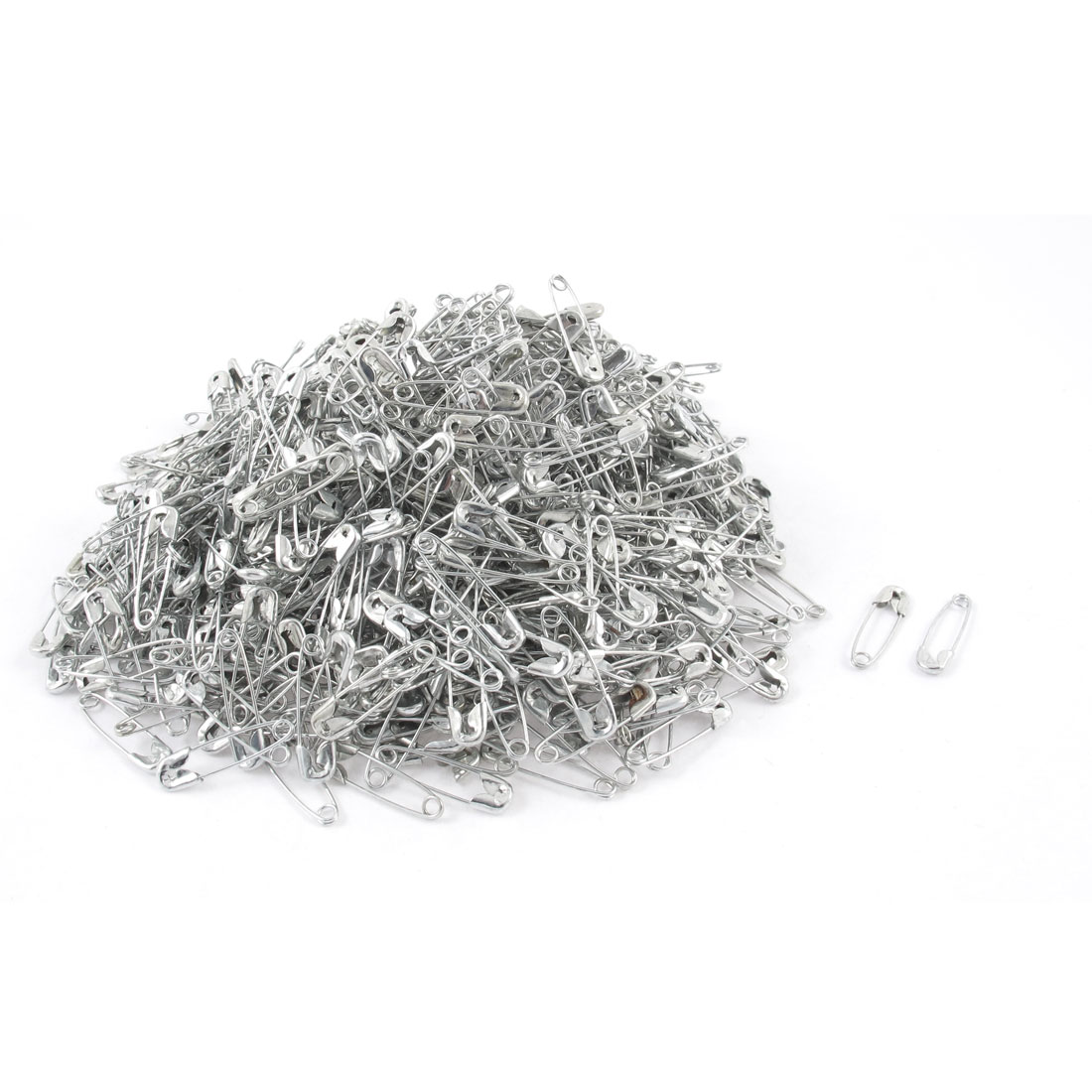 Metal Costume Sewing Dressmaking Craft Tiny Mini Safety Pins Silver Tone 1000pcs
