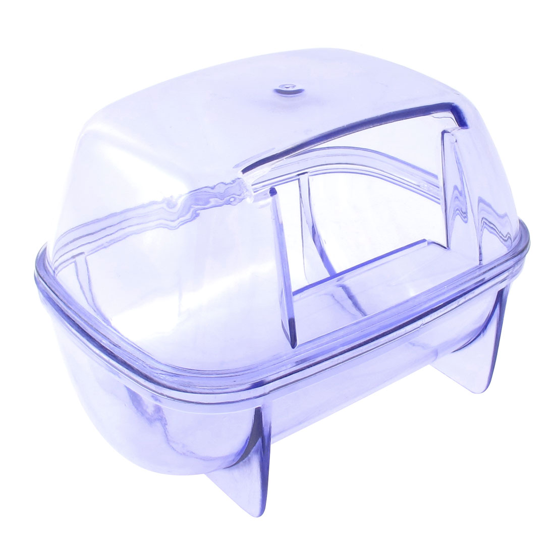 Hole Design Detachable Pet Hamster House Cage Playing Habitat Clear Blue