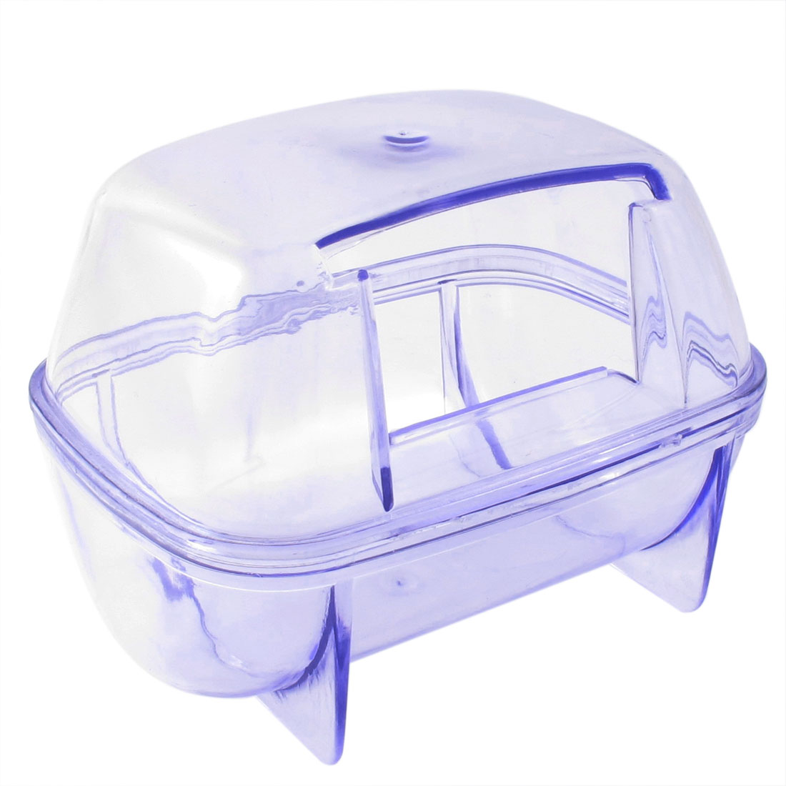 Detachable 4.5cm Door Hole Pet Gerbil Hamster House Cage Habitat Clear Blue