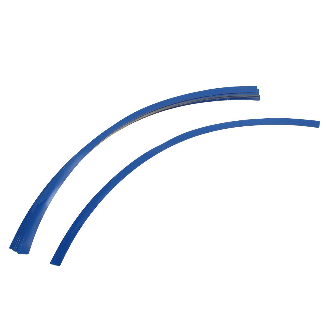 Motorcycle Car Tire Rim Stripe Tape Wheel Decorative Decal Sticker Blue 16pcs