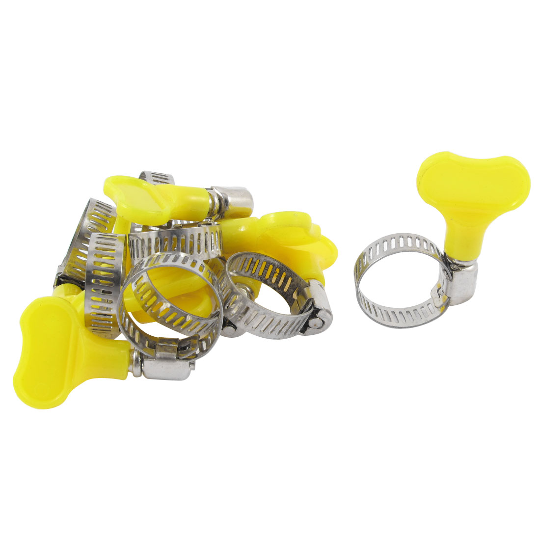Adjustable 13-19mm Range Band Stainless Steel Worm Drive Hose Clip Clamp 10pcs