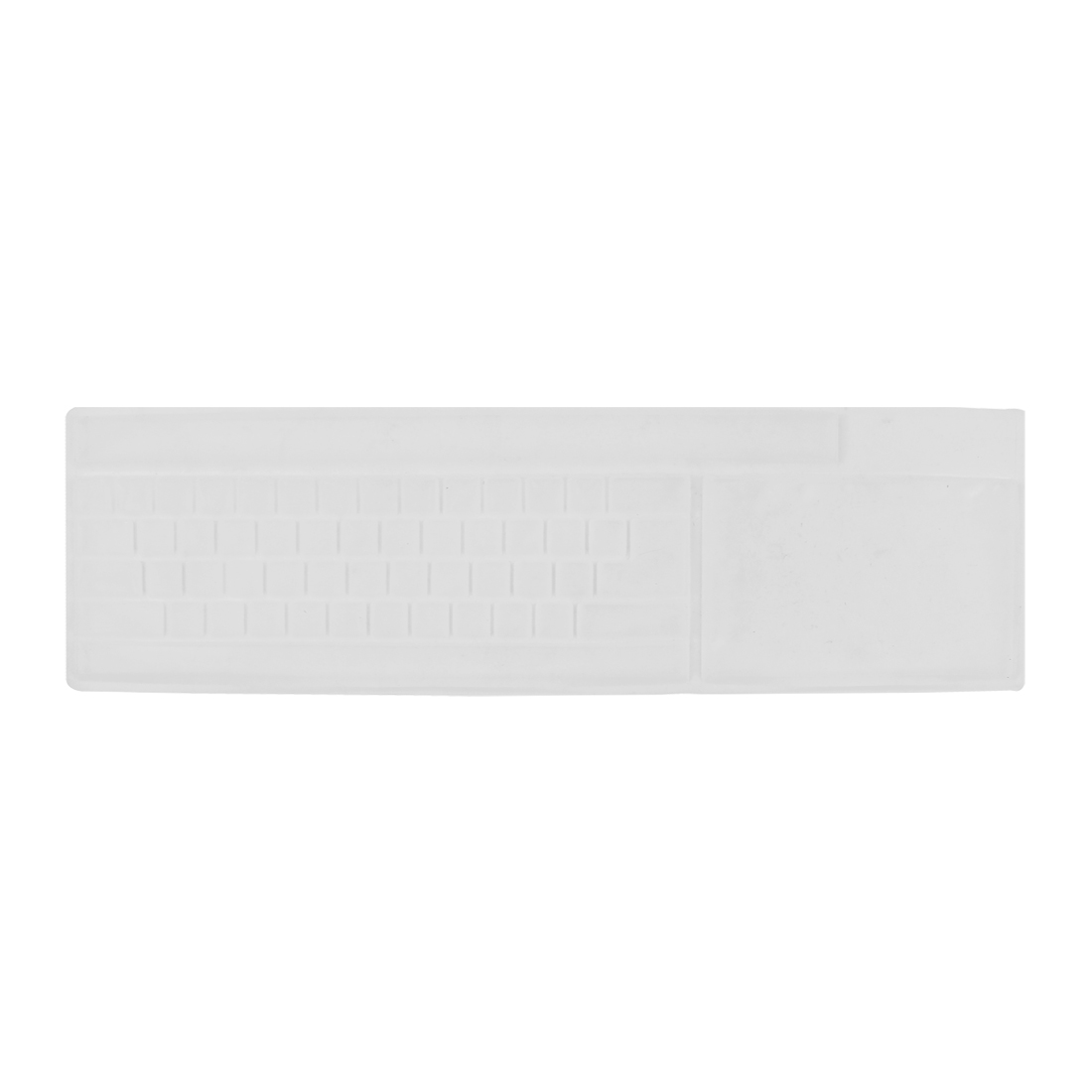 """White Silicone Universal Keyboard Protector Film Cover for 17.7"""" PC Notebook"""