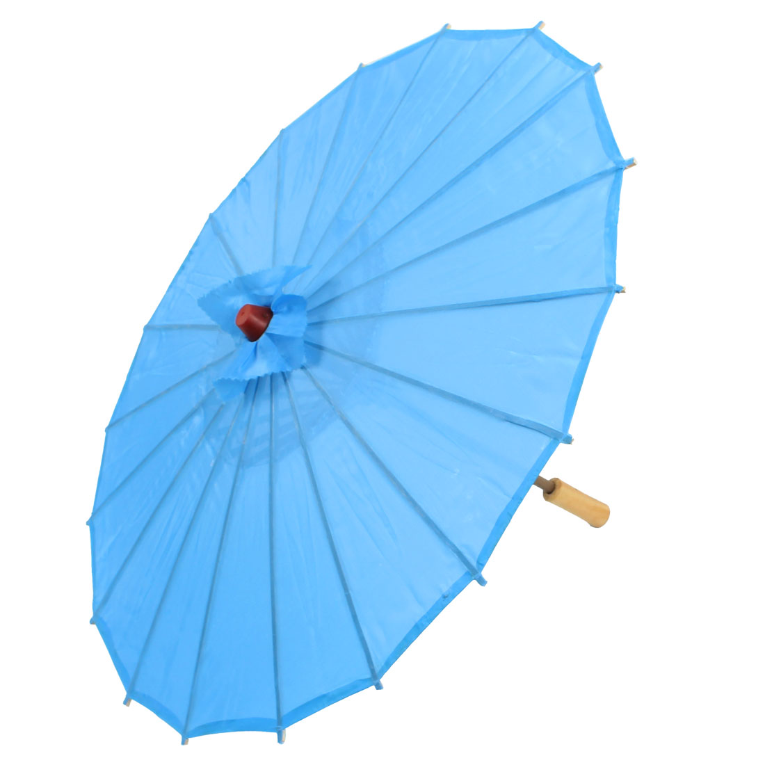 "Chinese Asian Oriental Japanese Stage Dancing Umbrella Parasol 22"" Dia Blue"