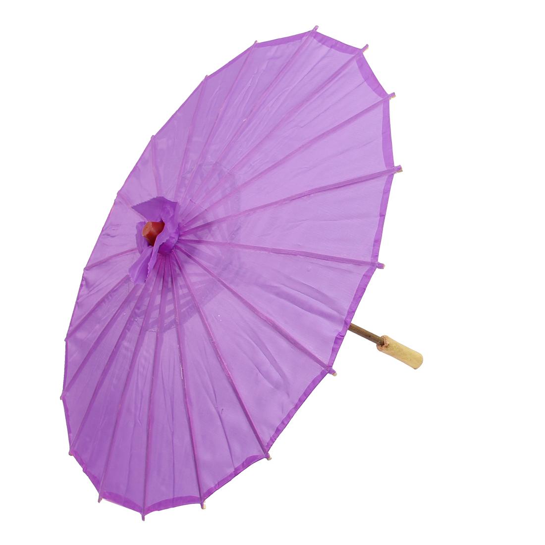 "Handmade Chinese Asian Oriental Japanese Dancing Umbrella Parasol 22"" Purple"