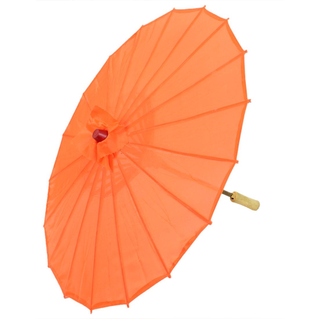 "Handmade Chinese Asian Oriental Japanese Dancing Umbrella Parasol 22"" Orange"