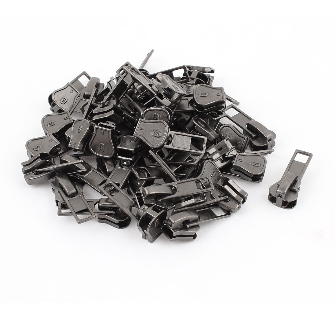 Clothes Jackets Tents Purses Pull Tab Zipper Slider Repair Kit Gray 50 PCS