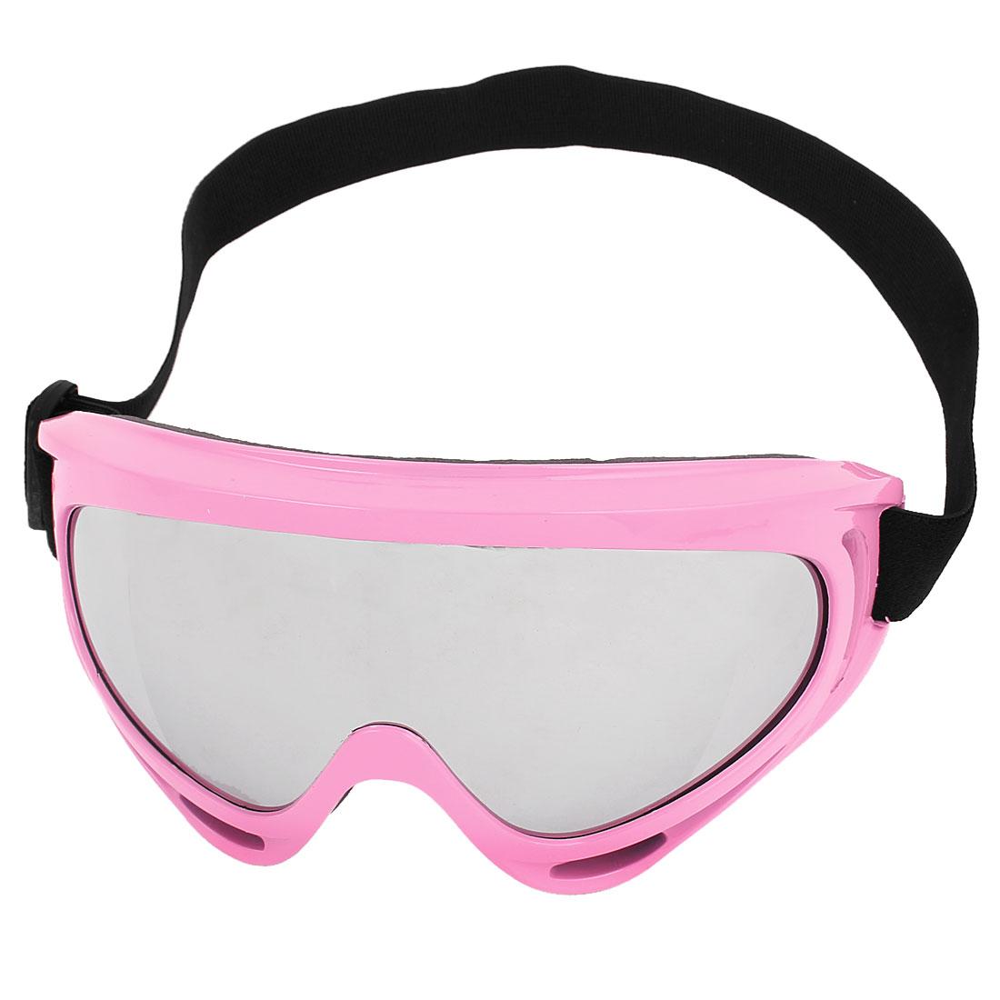 Elastic Headband Ski Horse Riding BMX Desert Motocross Motorcycle Goggles Pink
