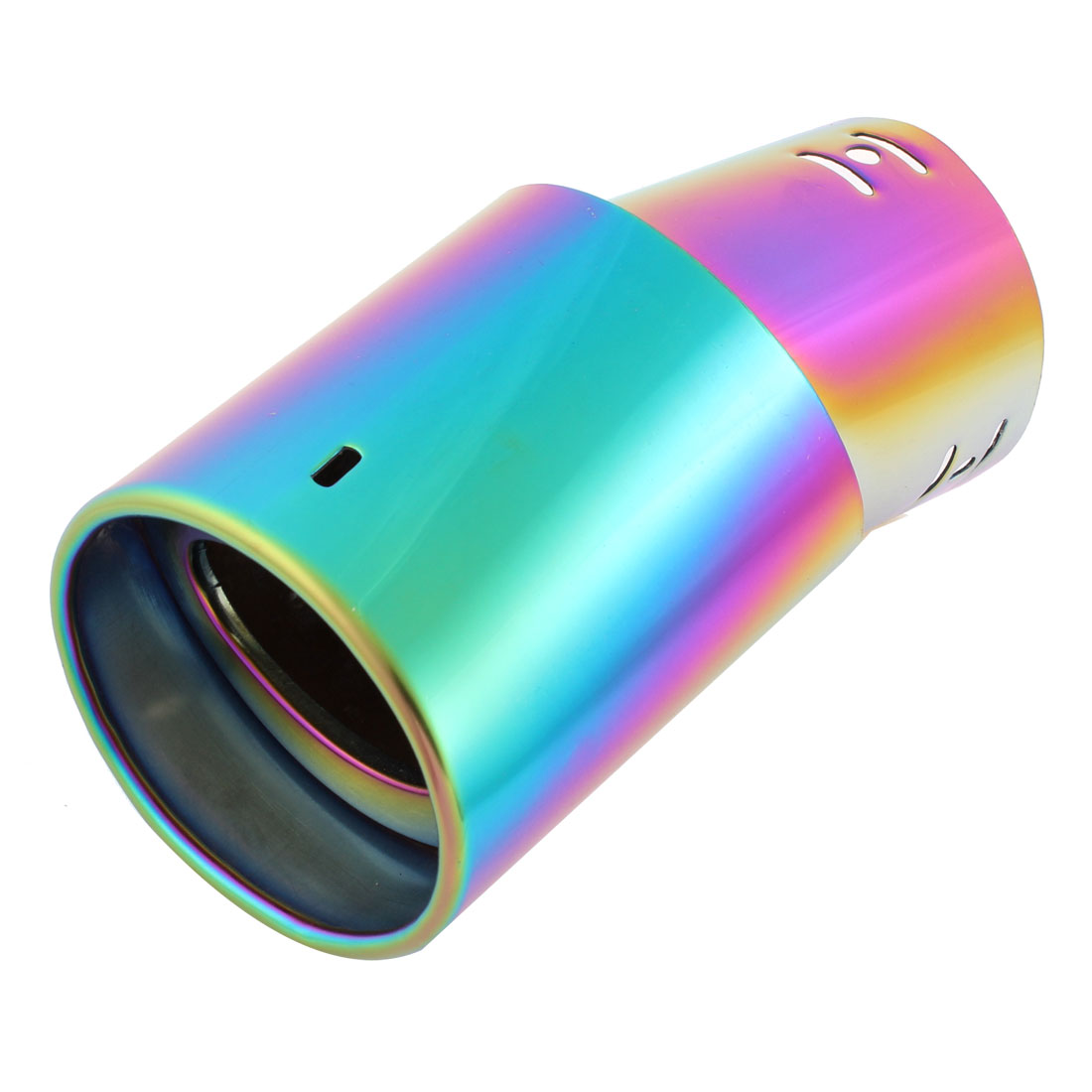 Car Colorful Stainless Steel Bolt on Slanted Rolled Exhaust Muffler Tip Silencer
