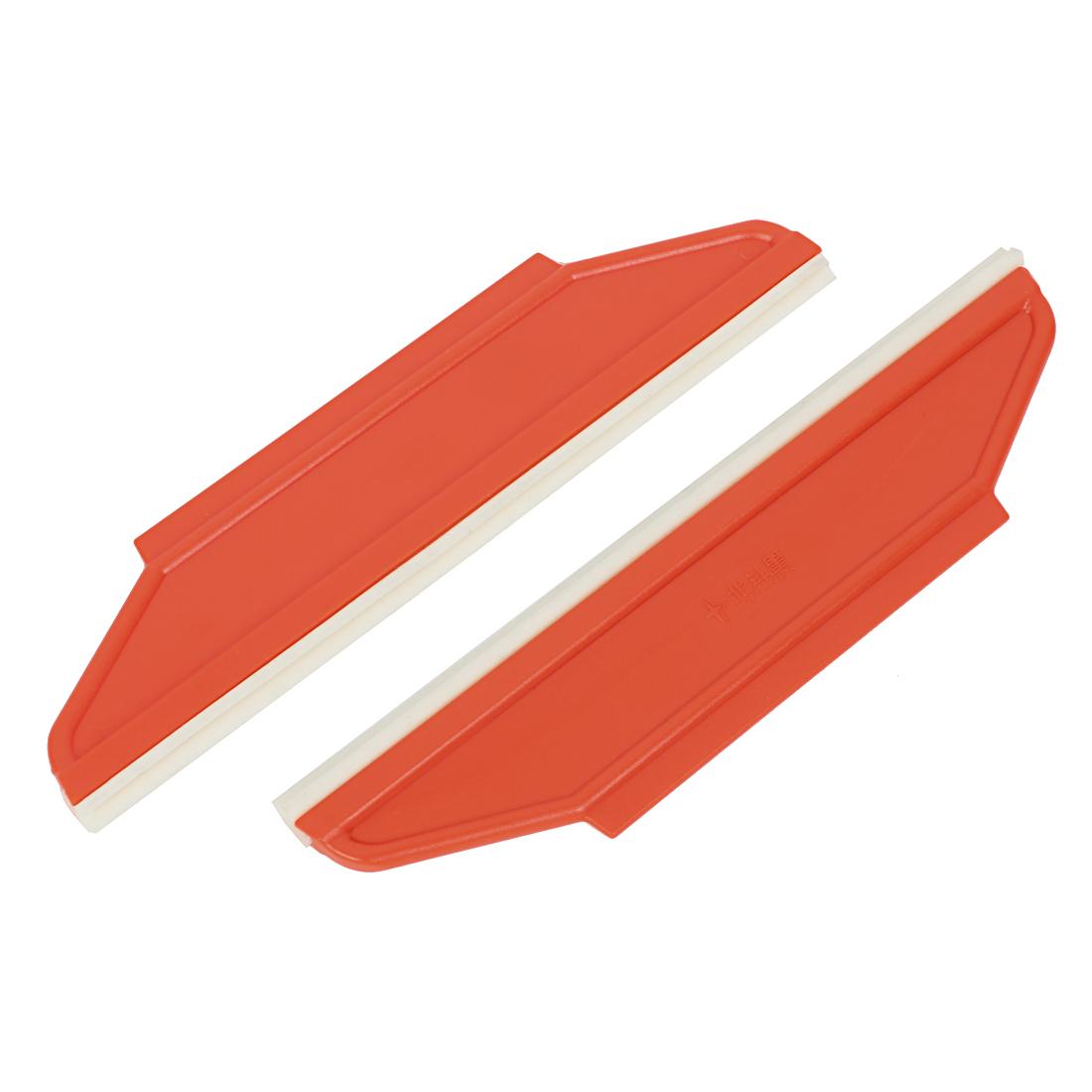 2 x Orange Plastic Window Sun Visor Film Tint Cleaner Scraper for Car Auto