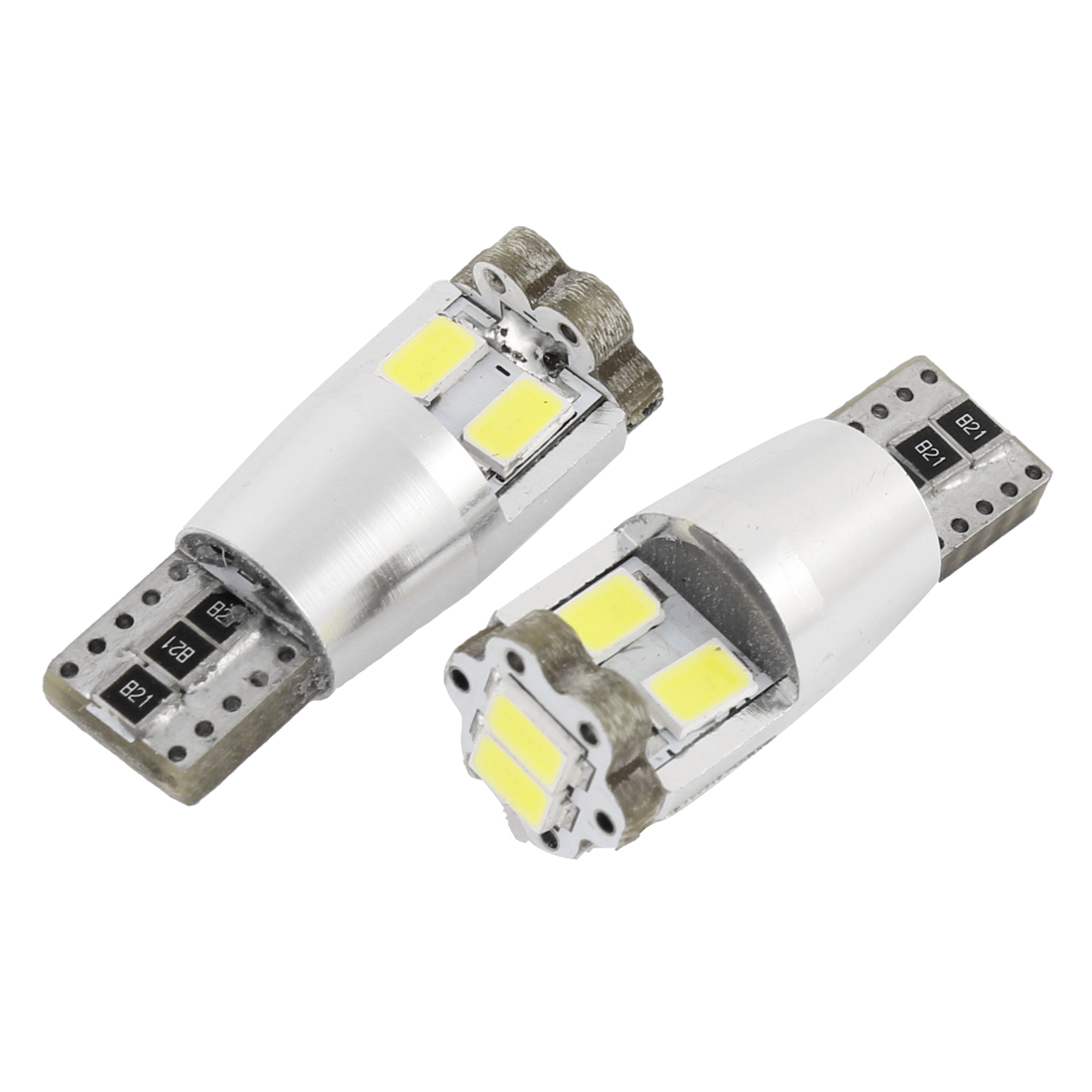 2 Pcs T10 Wedge White 5630 SMD 6 LED Canbus Light Bulb Lamp Internal
