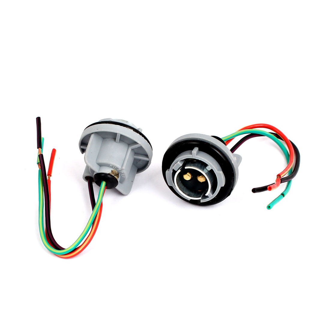 2 Pcs 1157 Turning Signal Lamp Light Socket Connection Harness Wire Replacement for Car