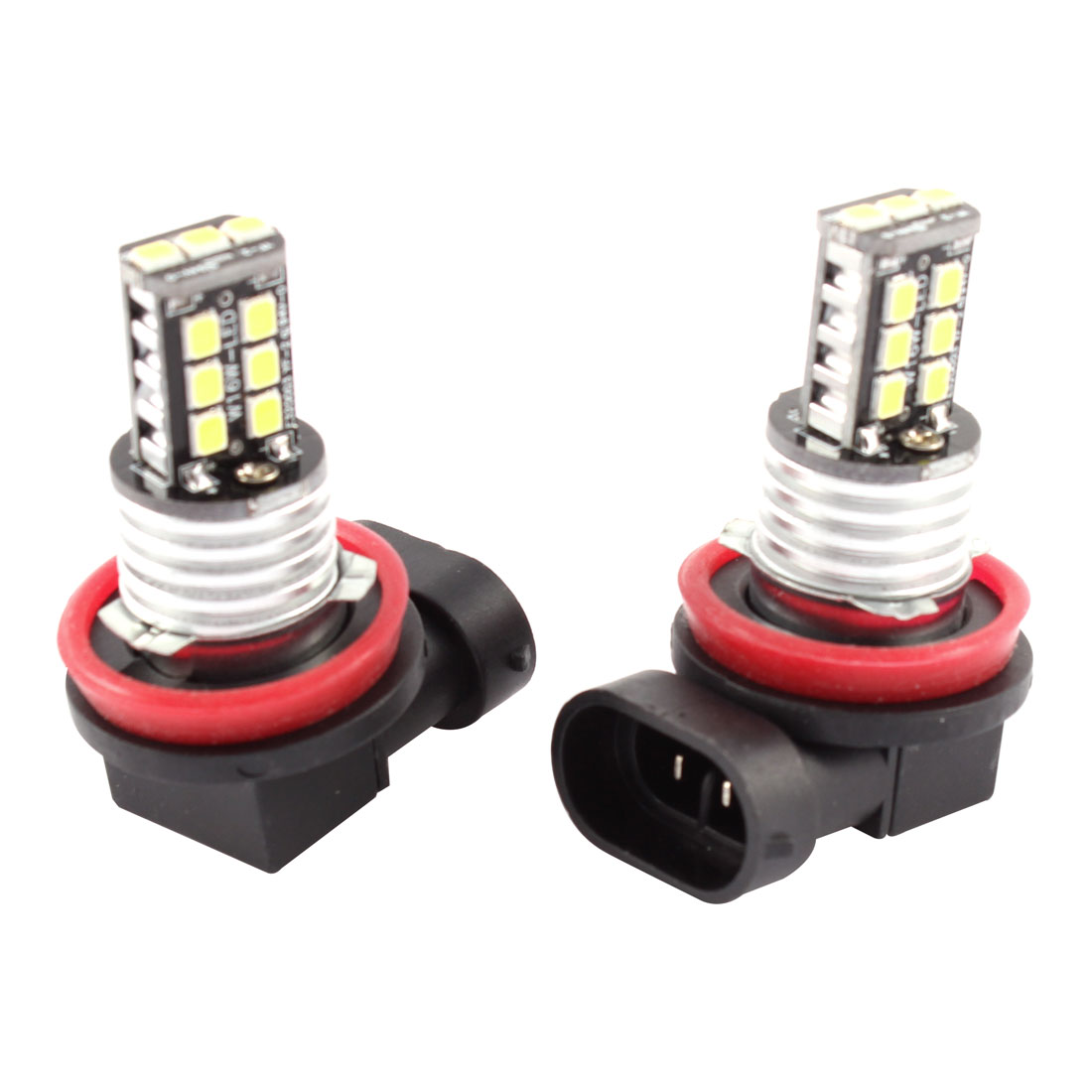 2 x H11 Socket 3528 SMD 15 LED White Foglight Light Bulb for Car Auto