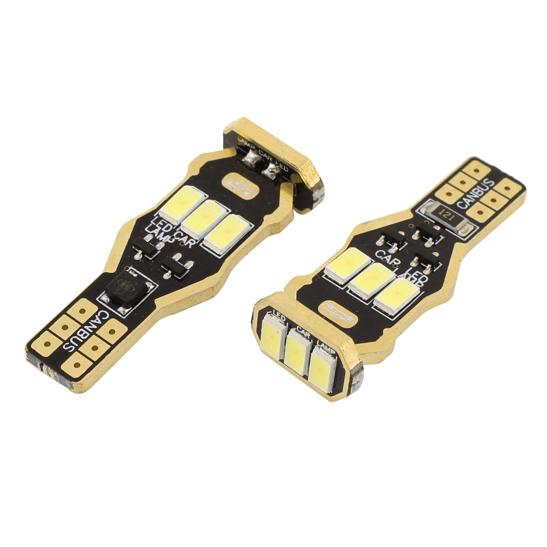 2 Pcs T10 W5W 5630 9-SMD LED Canbus Dashboard Light Signal Bulbs White Internal