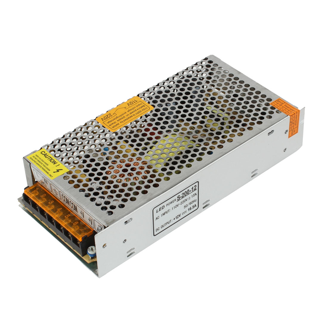 DC 12V 16.5A Regulated Switching Power Supply Converter S-200-12 for LED Strips Lights