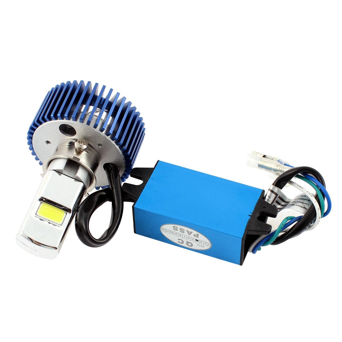 Motorcycle Blue Shell White Headlight LED Bulb Light 5-20W DC 9-15V